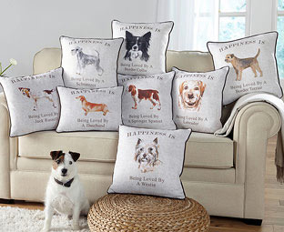 Relax on your Dog Breed Cushion