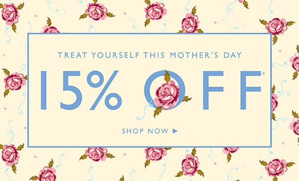 Treat yourself with 15% off at Emma Bridgewater