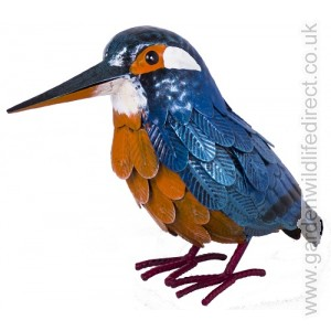 Kingfisher Garden Bird Metal Ornament