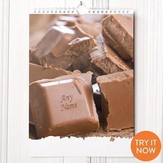 Personalised Chocolate Lovers Calendar