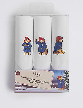 Pure Cotton Paddington™ Handkerchiefs from Marks & Spencer