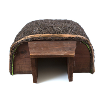 A hedgehog house for our prickly friends