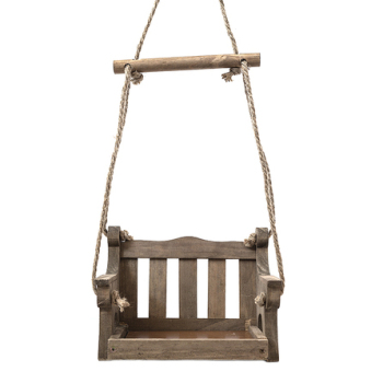 This swing seat feeder is perfect for feeding small birds.