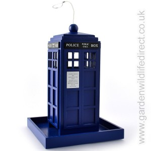 Deco-Pak Blue Police Box Seed Feeder