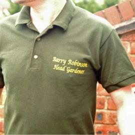 Personalised Head Gardener Polo Shirt
