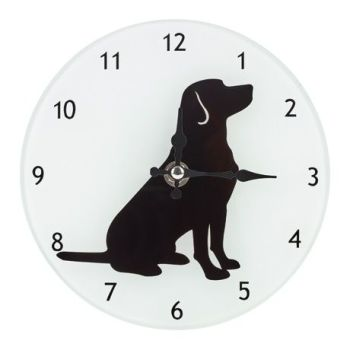 Black Labrador Clock from Dogalogue