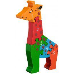Lanka Kade Wooden Giraffe Number Jigsaw