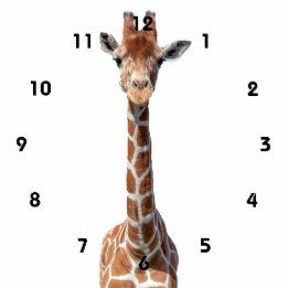 Giraffe Clocks from Zazzle