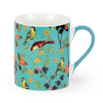 Flora & Fauna Twin Pack - Tray & Fine China Mug