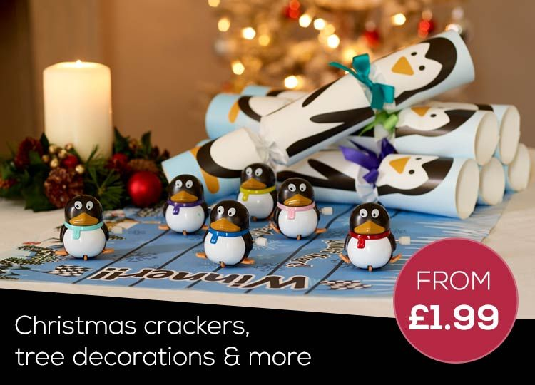 RSPB Christmas Crackers, Tree Decorations and more