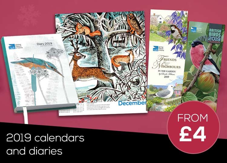 RSPB 2019 Calendars and Diaries