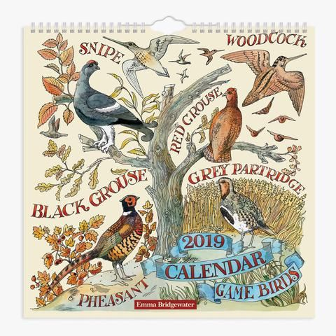 Game Birds 2019 Calendar from Emma Bridgewater