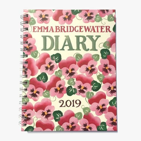 Pink Pansy 2019 A5 Diary from Emma Bridgewater