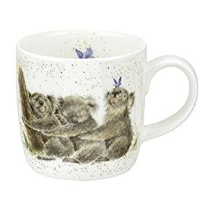 Royal Worcester Wrendale Three of a Kind Fine Koala Bone China Mug Single