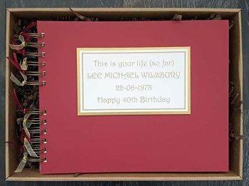 This is your life so far personalised scrapbook