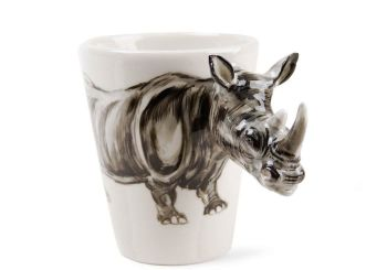 Rhino Gift, Coffee Mug Handmade by Blue Witch