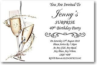 Don't forget to tell guests it's a SURPRISE party!
