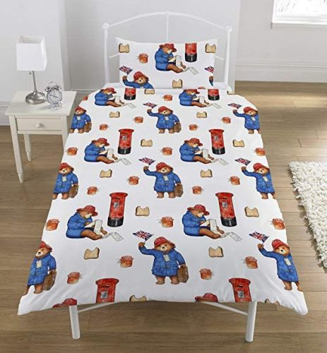 Paddington Bear Postbox Single Duvet Set, Polyester-Cotton Multi-Color