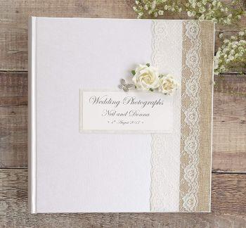 Drop Box Double Hearts Wedding Guest Book Alternative Wedding Guest Book Wedding Leaves Wedding Guest Book Wooden Wedding Guest Book