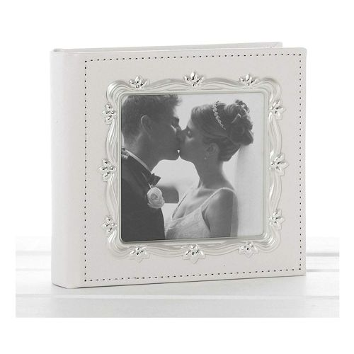 Deluxe Leather Effect White Wedding Day Photo Album