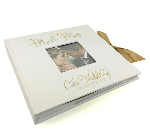 ukgiftstoreonline Large Wedding Photo Album 50 6x8 with verse design Gift