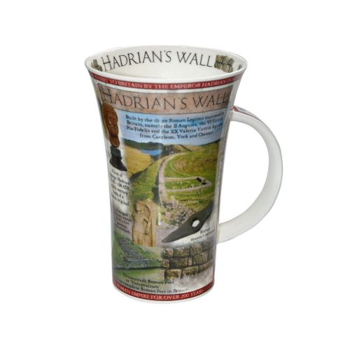 This is a Hadrians' Wall Facts Mug from English Heritage