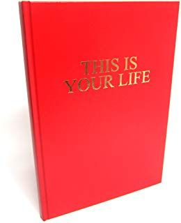 A4 This is Your Life, Gold Embossed Memory Album, Scrapbook, Photo, Keepsake, Red Hardback (A4 (210x297mm))