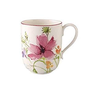 Villeroy & Boch Mariefleur De Basic Latte Macchiato Mug, Premium Porcelain, 480 ml