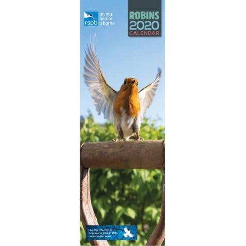 RSPB Robins 2020 Slim Wall Calendar