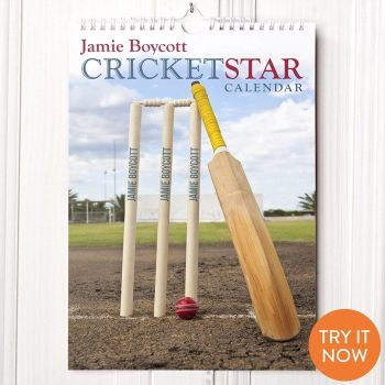 Personalised Cricket Calendar - New Edition from Getting Personal