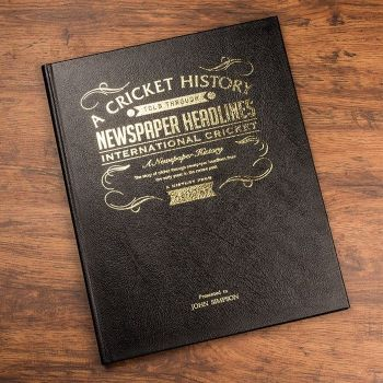 Personalised Sports Book - International Cricket