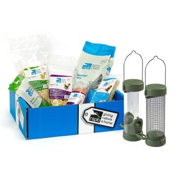 Bird Food Bumper Selection Gift Box with Feeders