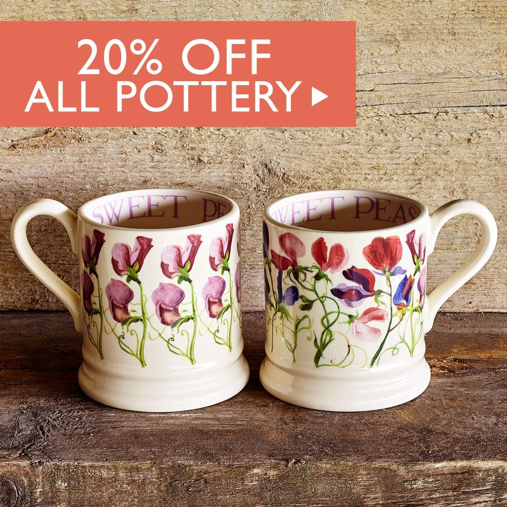20% off Pottery