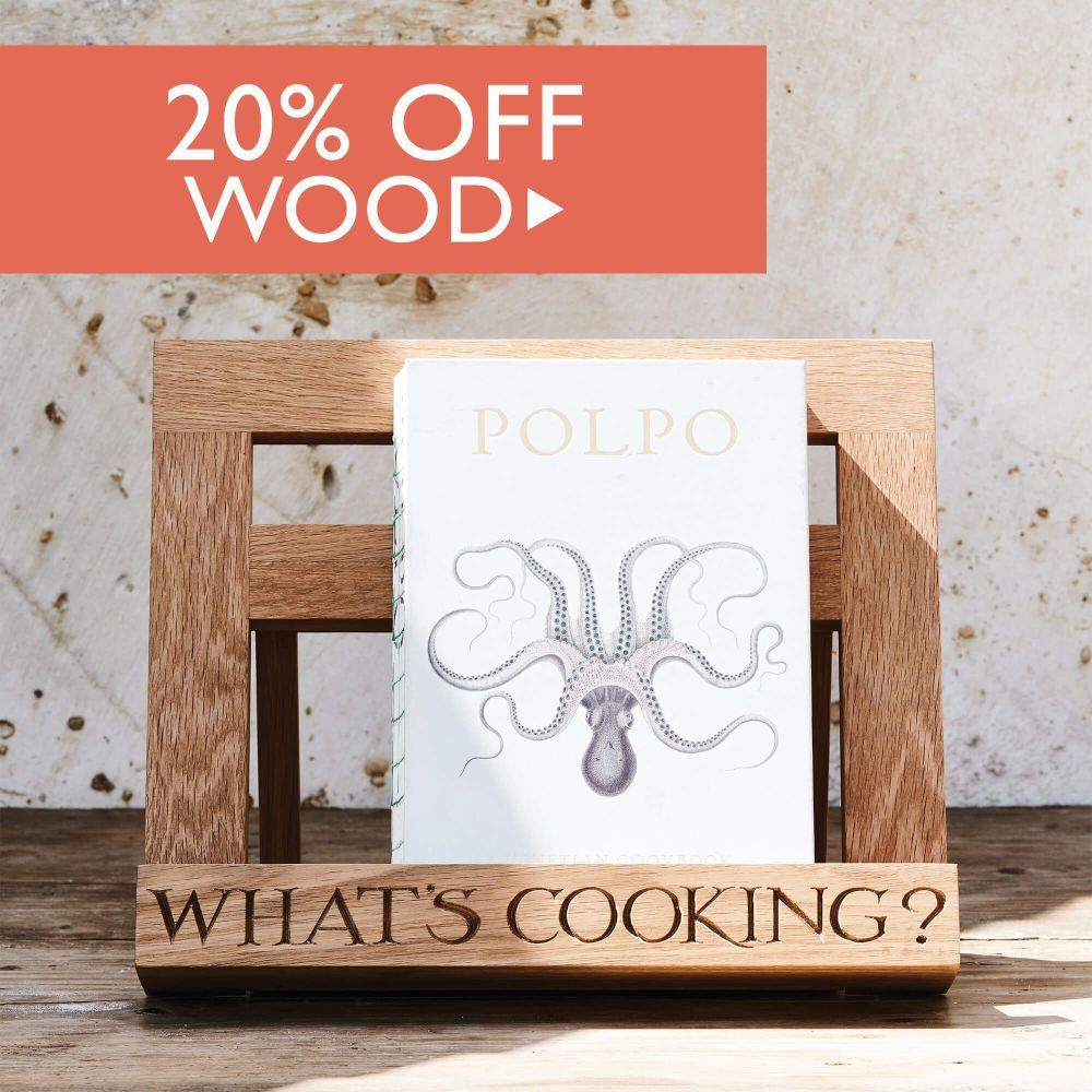 20% off Wood