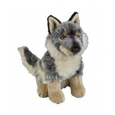 You can buy this Grey wolf soft toy from the Natural History Museum Shop