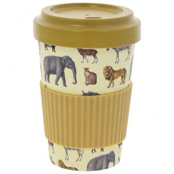 This bamboo reusable safari travel mug is available from the Natural History Museum