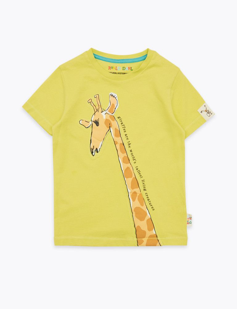Roald Dahl yellow giraffe t-shirt