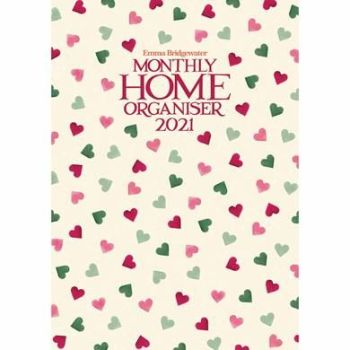 Emma Bridgewater, Pink & Green Hearts A3 Family Planner 2021