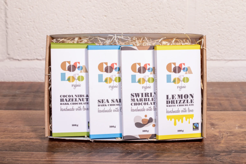 Cocoa Loco has a range of Letter Box Friendly Chocolate Bars