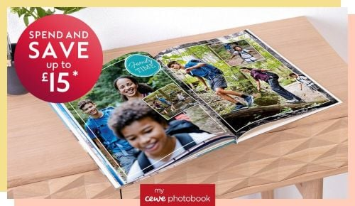 There's a Cewe photobook offer too!