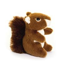 Red squirrel cuddly toy, eco, from the RSPB