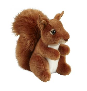 Red squirrel soft toy from the Natural History Museum