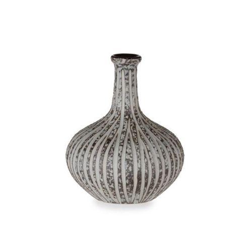 Athens Small Vase, Stone Stripe