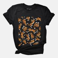 This Big Cats (Tigers) Organic Cotton T-shirt would make a great gift for tiger lovers!