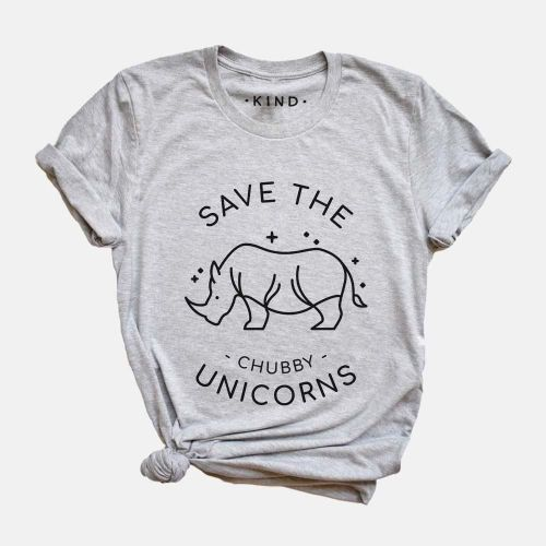 This is the Save the Chubby Unicorns organic t-shirt