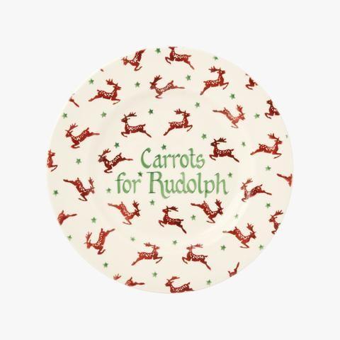"""Personalised Reindeer 8 1/2"""" Plate"""