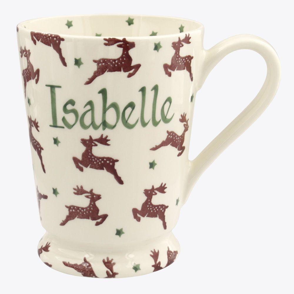 Personalised Reindeer Cocoa Mug