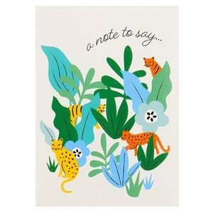 A note to say jungle notecards - pack of 10