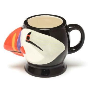 RSPB Free as a bird puffin head mug