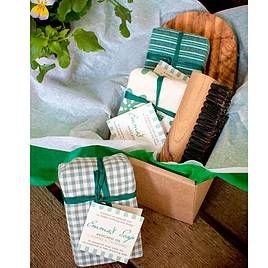 This is the Gardeners Gift Set with three beautiful handmade avocado soaps in it